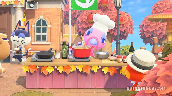 추수감사절에는 요리를 돕는다 (사진출처: 한국닌텐도 공식 홈페이지)