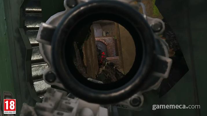 철문을 녹이고 그 틈사이로 적을 쏘면 고수도 한 방에! (사진출처: 공식 영상 갈무리)