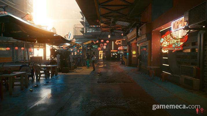이 곳은 재팬타운에 위치한 공중거리(?) 같은 곳입니다. 지상으로부터 꽤 높은 곳에 마련된 거리로, 나름 일본풍 느낌이 들죠