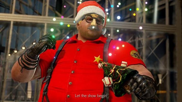 물 찬 제비처럼 날렵하게 선물을 전달해 주는 밥 산타 (사진출처: www.rockpapershotgun.com)