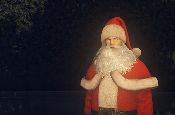 절대 들키지 않는 것이 산타의 덕목이지 (사진출처: 유튜브 Gaming GOLD 채널 영상 갈무리)