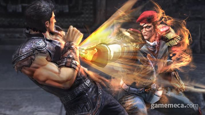 이 둘의 모티브가 된 캐릭터는 레드베레 수장 커넬이다 (사진출처: 진 북두무쌍 공식 홈페이지)