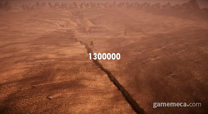 일일히 모델링 된 병사 130만 명이 격돌한다 (사진출처: 얼티밋 에픽 배틀 시뮬레이터 2 트레일러 갈무리)