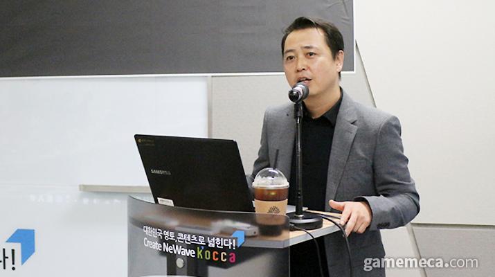 한국모바일게임협회 황성익 회장 (사진: 게임메카 촬영)
