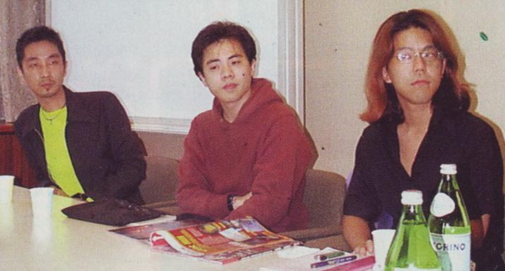 팀 사일런트 초기 멤버였던 토야마 케이치로(중앙), 야마모토아키라(좌), 사토 타카요시(우) (사진출처: 사일런트 힐 메모리즈)