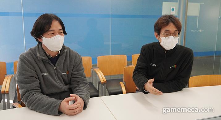 성정국 PD(좌)와 김정훈 사업실장(우) (사진제공: 위메이드)