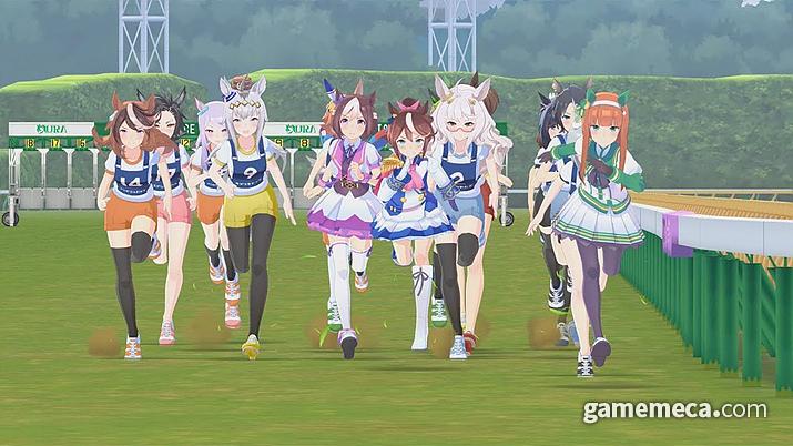 일단 미소녀 경주를 뛰고… (사진출처: 우마무스메: 프리티 더비 공식 홈페이지)