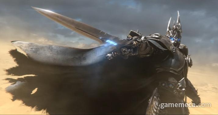 분명히 이렇게 멋있었던 리치왕 아서스는... (사진출처: 블리자드 공식 유튜브 영상 갈무리)