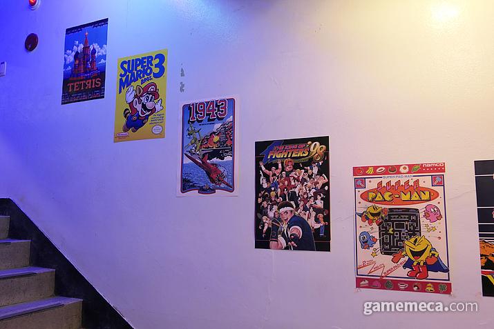 각종 고전게임 포스터들