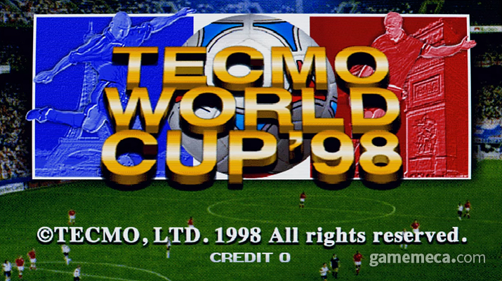 모두의 마음을 들뜨게 하는 테크모 월드컵 98 메인 화면 (사진출처: 게임 내 오프닝 영상 갈무리)