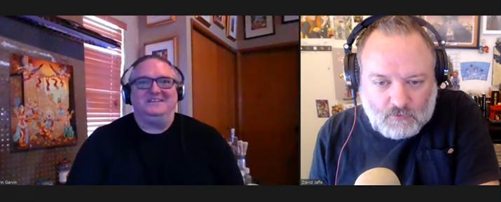 정가 구매하지 않은 게이머를 비난하는 발언으로 논란을 산 데이즈 곤 작가 겸 크리에이티브 디렉터인 존 가빈(왼쪽) (사진출처: 데이빗 자페 유튜브 채널 영상 갈무리)