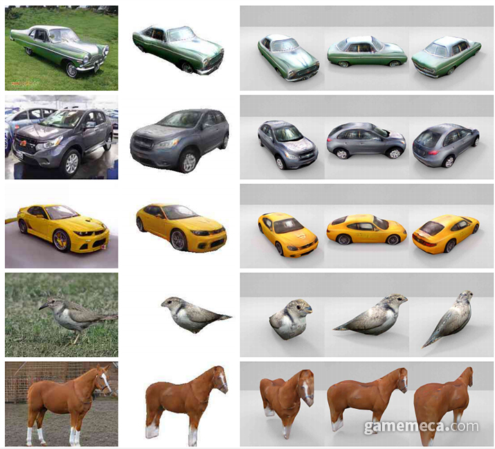 사진 한 장만으로 손쉽게 3d 모델링을 만들 수 있다 (사진출처: 엔비디아 기술 논문)