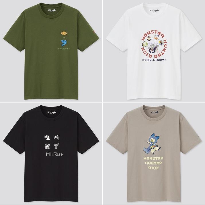 포켓몬 올스타즈와 몬스터 헌터 라이즈 티셔츠 (사진출처: 유니클로)