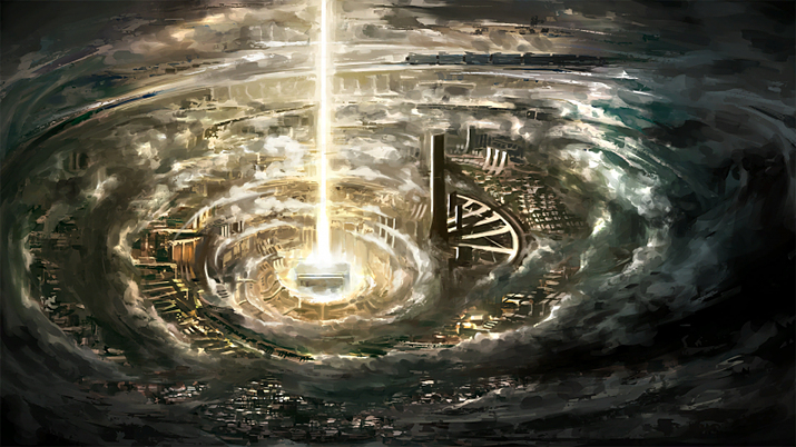 게임 결말에서는 '도시'에 3일 동안 각성의 빛이 비춘다 (사진출처: 게임 내 이미지 갈무리)