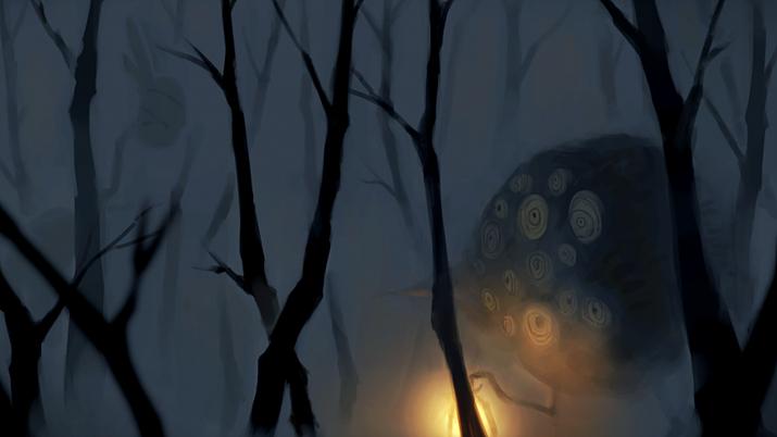 도시 외곽에 위치한 '검은 숲'에는 괴물들이 산다 (사진출처: 게임 내 이미지 갈무리)