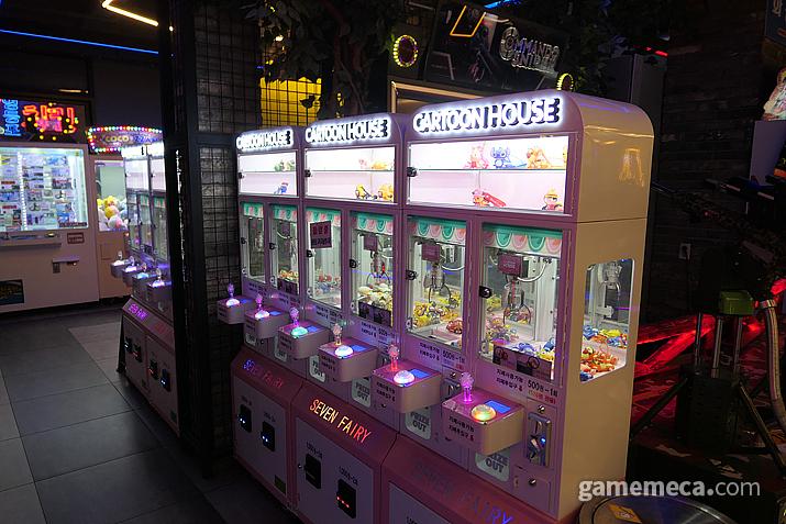 곳곳에 설치되어 있는 미니 크레인 게임기