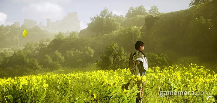 미드가르드 초원에 서 있는 프리스트의 모습