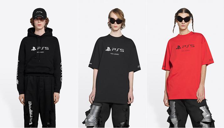 PS5x발렌시아가 후드티 및 티셔츠 착용샷 (사진출처: 발렌시아가 국내 홈페이지)