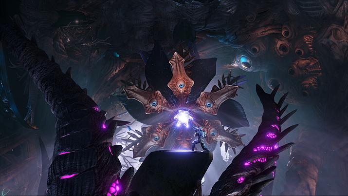 이미 현실세계에서도 우주선을 장악하고 있던 촉수 달린 끔찍한 괴물 (사진출처: 스팀)
