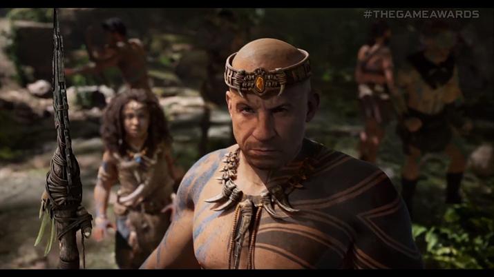 아크 2 트레일러에도 등장한, 빈 디젤 얼굴을 본 따 제작된 캐릭터 (사진출처: 게임 어워드 영상 갈무리)