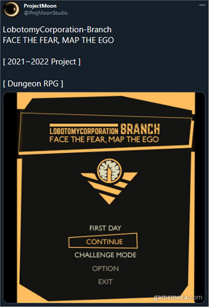 파괴된 로보토미 코퍼레이션 시설을 탐사하는 던전 크롤 RPG는 유지하지만, 구체적 개발 계획은 다시 산정할 예정이다 (사진출처: 프로젝트 문 공식 트위터)