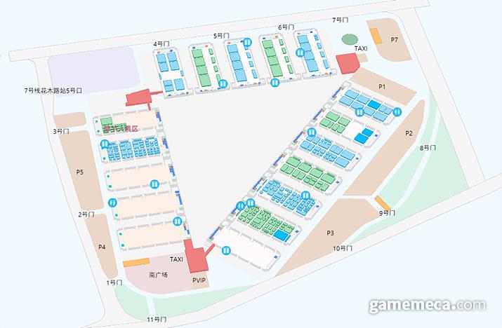 올해 행사장 개관도 (사진출처: 차이나조이 공식 홈페이지)