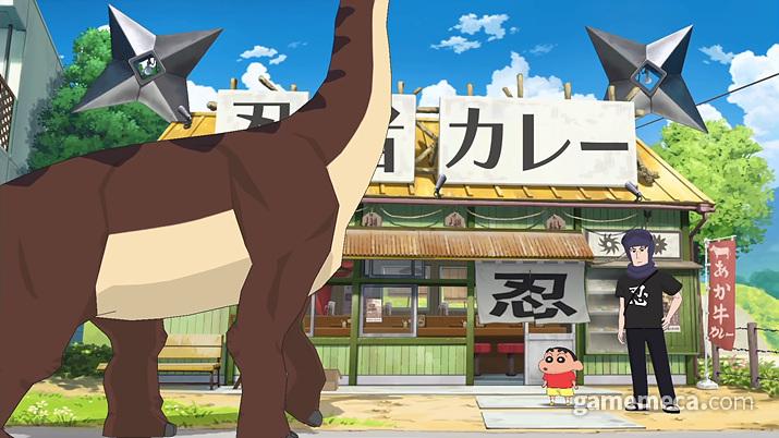 마을에 공룡이 돌아다닌다? (사진출처: 닌텐도 공식 유튜브 영상 갈무리)