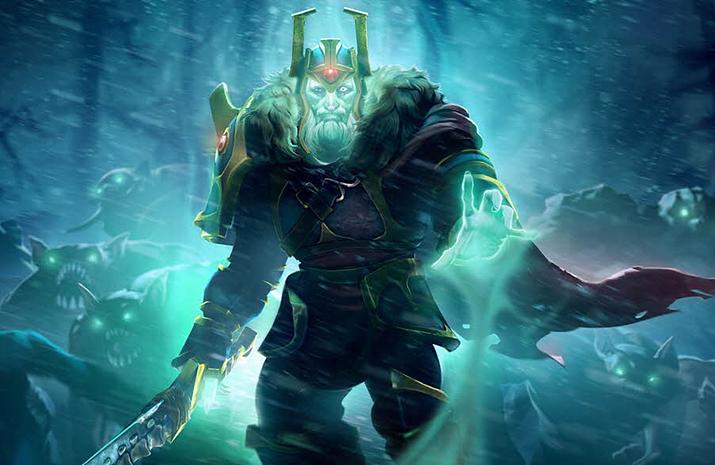 망령들을 부리는 아저씨 왕이 되었다 (사진출처: 도타2 위키)