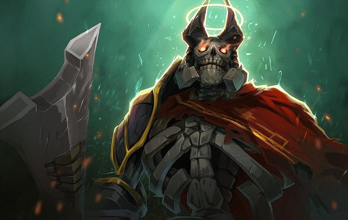 해골 왕이었던 그는... (사진출처: 도타2 위키)