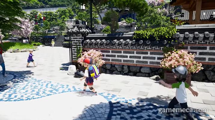 한옥식 담장이 펼쳐져 있는 도깨비의 거리 (사진출처: 게임스컴 트레일러 갈무리)