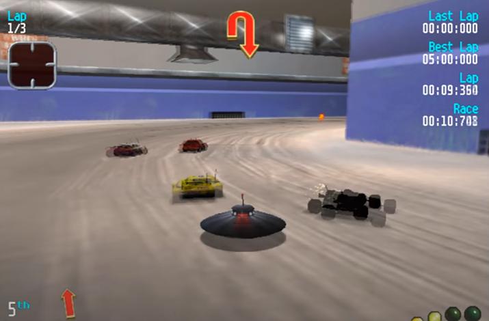 UFO는 한 번 넘어지면 내가 어느 방향을 향하고 있는지도 잘 안 보였다 (사진출처: 유튜브 채널 iRobvrt 영상 갈무리)