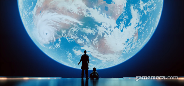 달을 바라보면 아기 윈스턴과 호라이즌 기지가 생각난다 (사진출처: 시네마틱 영상 갈무리)