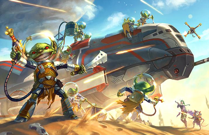 아예 고블린과 함께 우주로 가버리는 외전 스타파인더 RPG (사진출처: 파이조 공식 홈페이지)