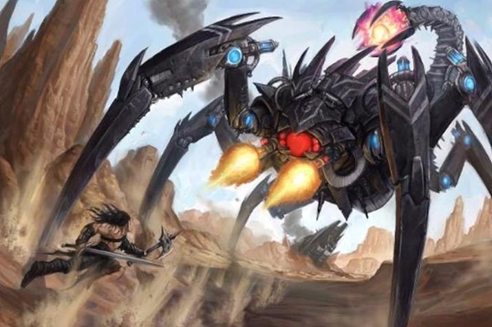 거대 로봇 전갈이 여기서 왜 나와? (사진출처: 파이조 공식 홈페이지)