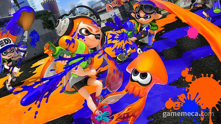 게이머들은 오징어 게임 하면 단연 스플래툰을 떠올릴 것이다 (사진출처: 게임 공식 홈페이지)