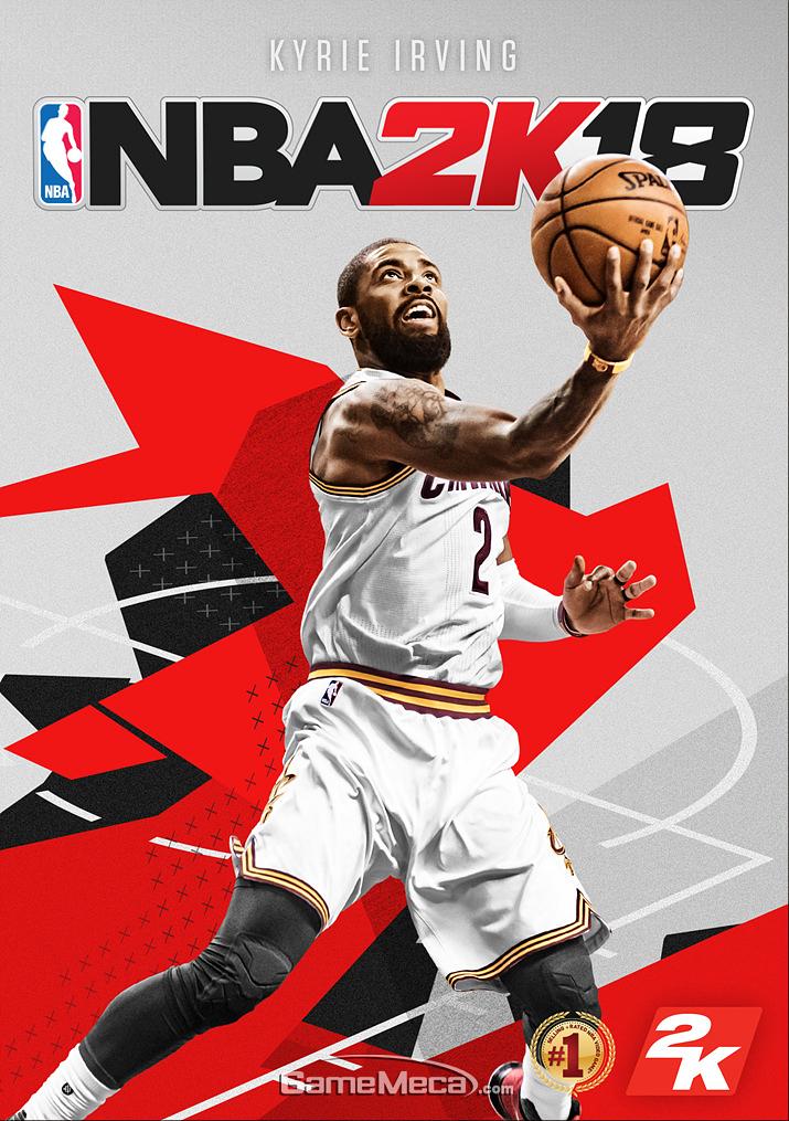 클리블랜드 유니폼으로 찍었던 NBA 2K18 표지 사긴 (사진제공: 2K)