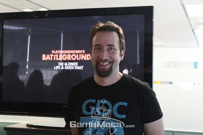 블루홀 '배틀그라운드' 개발자인 브랜든 그린 (사진: 게임메카 촬영)