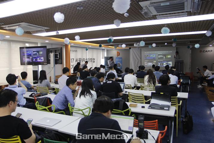 와이제이엠게임즈는 '서울 VR 스타트업' 등 다양한 VR 관련 사업을 펼치고 있다 (사진: 게임메카 촬영)