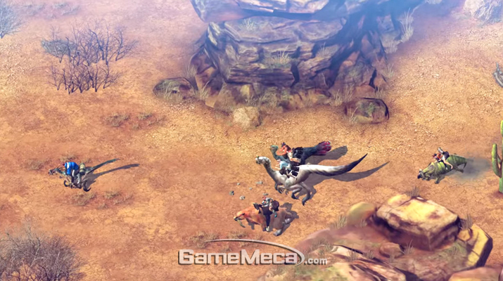 공룡과 채집, 사회건설을 목표로 하는 MMORPG '듀랑고' 스크린샷 (사진출처: 영상 갈무리)