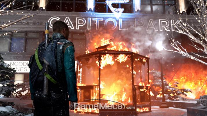 도시를 파괴하는 폭력주의 노선을 택할 수 있다 (사진출처: 게임 공식 홈페이지)