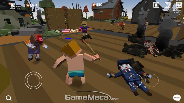 블록형 좀비 서바이벌 게임 '픽셀 블러드 온라인' (사진제공: 하나게임스)