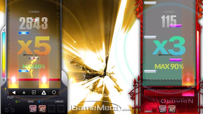 '디제이맥스 리스펙트' 로컬 2인 플레이 화면 (사진제공: 네오위즈게임즈)