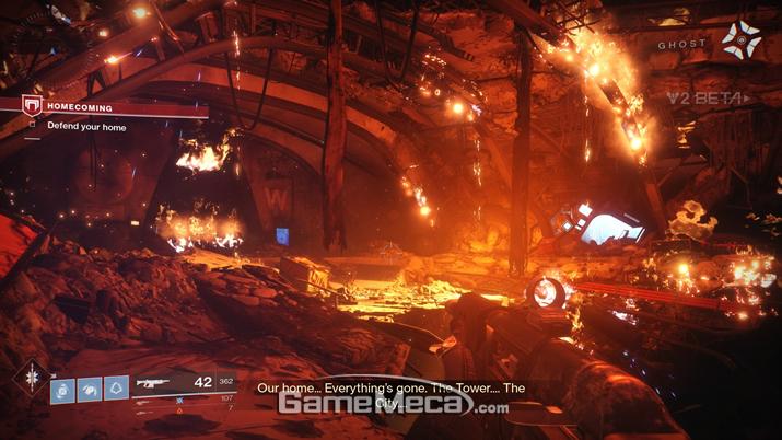 집에 왔더니 전부 불타고 있더라고요 (사진출처: 게임메카 촬영)