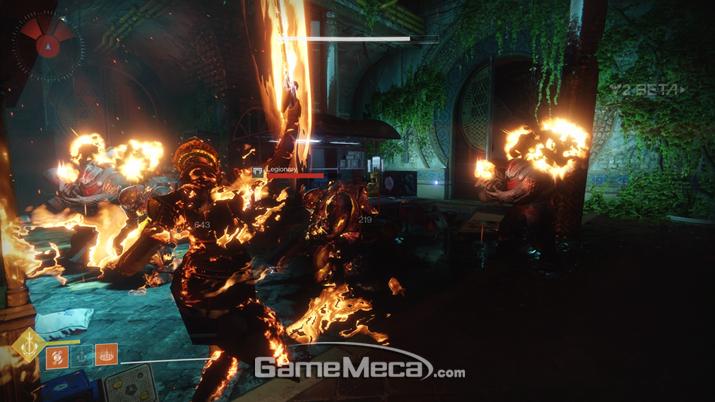 끝없는 힐에 지친 '던블레이드'. 모든 것을 태워버린다 (사진출처: 게임메카 촬영)