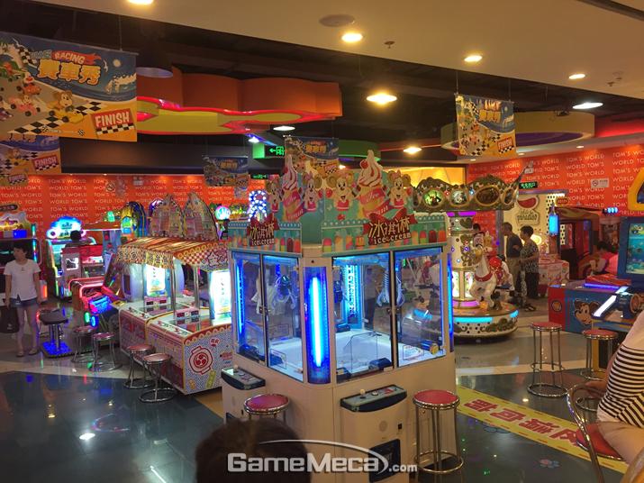 중국산 쿠폰 게임기 코너