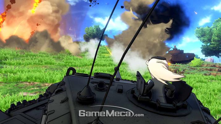 '걸즈 앤 판처' 특유의 전차 배틀, PS4로 즐기자! (사진제공: BNEK)