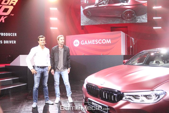 'EA 게임스컴 라이브' 현장에 등장한 BMW M5 차량 (사진: 게임메카 촬영)