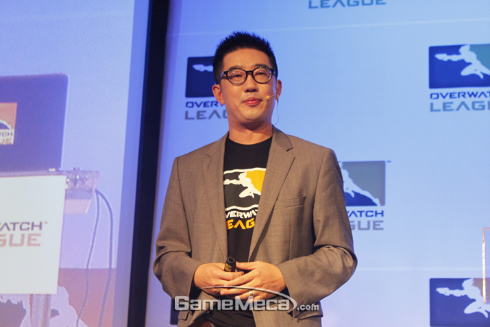 e스포츠에 대한 꿈을 밝힌 케빈 추 대표 (사진출처: 게임메카 촬영)