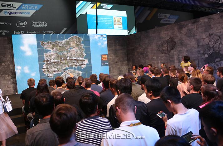 게임스컴에서 진행된 '배틀그라운드 인비테이셔널' (사진출처: 게임메카 촬영)