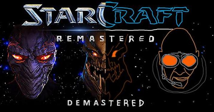 '스타크래프트: 디마스터'. 중간부터 손그림으로 변하는 것이 예사롭지 않다 (사진출처: 스타크래프트 공식 페이스북)
